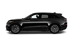 Car driver side profile view of a 2018 Land Rover Range Rover Velar R-Dynamic SE 4WD 5 Door SUV