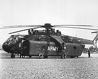 One of the unique pieces of equipment brought to Vietnam by the 1st Cavalry Division (Airmobile), U.S. Army, is the huge Sky Crane CH-54A helicopter which can lift tremendous loads. (USIA)<br /> EXACT DATE SHOT UNKNOWN<br /> NARA FILE #:  306-MVP-15-10<br /> WAR & CONFLICT BOOK #:  400
