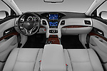 Stock photo of straight dashboard view of 2017 Acura RLX Sport Hybrid 4 Door Sedan