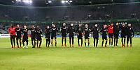Frankfurter team celebrates <br /> / Sport / Football / Football: Germany, 1. Bundesliga  /  2017/2018 / 20.01.2018 / VfL Wolfsburg WOB vs. SG Eintracht Frankfurt SGE 180120024 /  *** Local Caption *** © pixathlon<br /> Contact: +49-40-22 63 02 60 , info@pixathlon.de