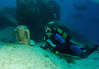 Diving with amphorae off Kas, Turkey