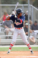 Milton Ramos, #9 of Florida Christian High School, FL for the Cardinals Scout Team / FTB Chandler during the WWBA World Championship 2013 at the Roger Dean Complex on October 25, 2013 in Jupiter, Florida. (Stacy Jo Grant/Four Seam Images)