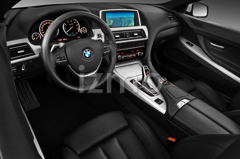 High angle dashboard view of a 2010 BMW 6 Series 640i Convertible