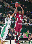 Troy Trojans guard Will Weathers (1) in action during the game between the Troy Trojans and the University of North Texas Mean Green at the North Texas Coliseum,the Super Pit, in Denton, Texas. UNT defeats Troy 87 to 65.....