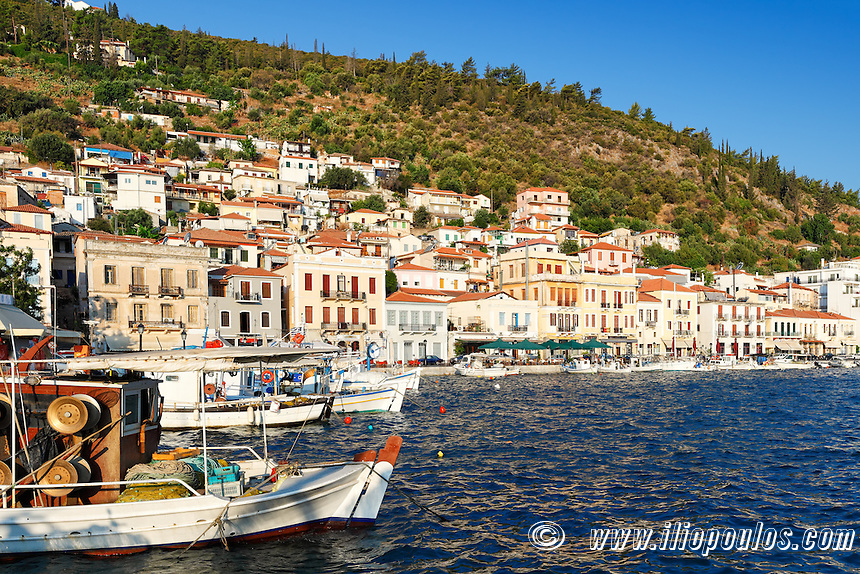 Fishing boats in the village Gytheio in Laconia, Greece
