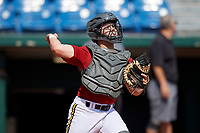Garrett Madliak (10) of Carrollton High School in Carrollton, GA during the Perfect Game National Showcase at Hoover Metropolitan Stadium on June 17, 2020 in Hoover, Alabama. (Mike Janes/Four Seam Images)