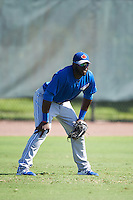 Toronto Blue Jays outfielder Anthony Alford (9) during an Instructional League game against the Philadelphia Phillies on October 1, 2016 at the Carpenter Complex in Clearwater, Florida.  (Mike Janes/Four Seam Images)