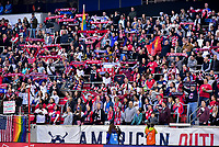 HARRISON, NJ - MARCH 08: Fans at Red Bull Arena during a game between Spain and USWNT at Red Bull Arena on March 08, 2020 in Harrison, New Jersey.