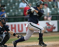 New Orleans Zephyrs Migel Negron during the 2007 Pacific Coast League Season. Photo by Andrew Woolley/ Four Seam Images.
