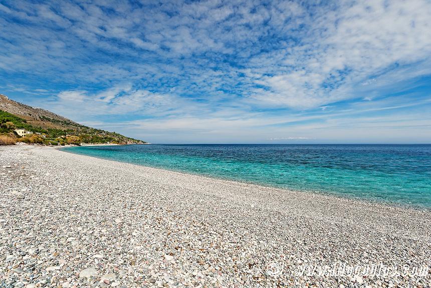 The beach Giosonas in Chios island, Greece
