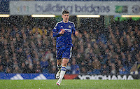 Mason Mount of Chelsea U18 as the snow falls during the FA Youth Cup FINAL match between Chelsea U18 and Man City U18 at Stamford Bridge, London, England on 27 April 2016. Photo by Andy Rowland.