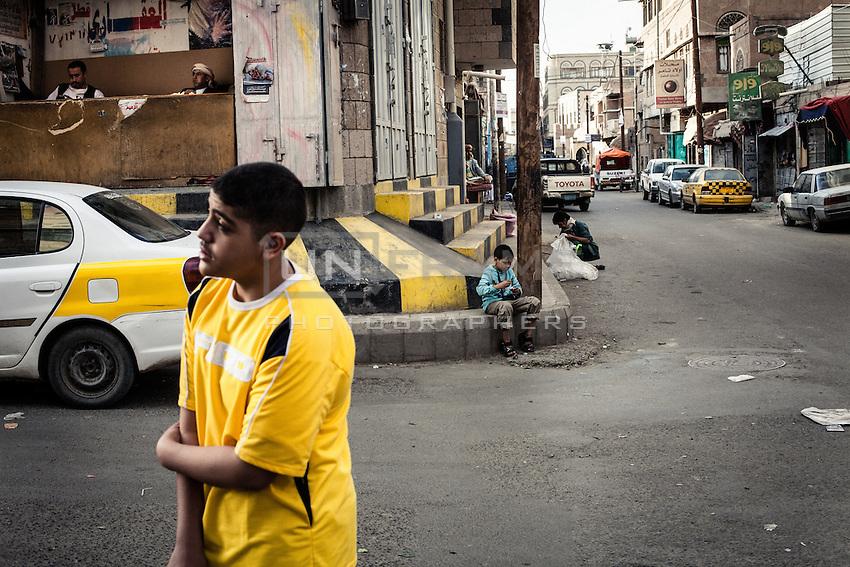 Near souq Hajjar, Sana'a.