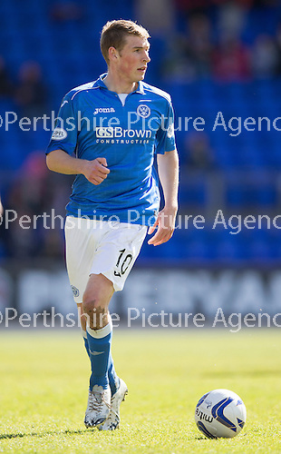 St Johnstone v Dundee....11.04.15   SPFL<br /> David Wotherspoon<br /> Picture by Graeme Hart.<br /> Copyright Perthshire Picture Agency<br /> Tel: 01738 623350  Mobile: 07990 594431