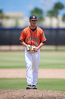 GCL Astros relief pitcher Joey Gonzalez (35) gets ready to deliver a pitch during a game against the GCL Nationals on August 6, 2018 at FITTEAM Ballpark of the Palm Beaches in West Palm Beach, Florida.  GCL Astros defeated GCL Nationals 3-0.  (Mike Janes/Four Seam Images)