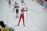 HOLMENKOLLEN, OSLO, NORWAY - March 16: Haavard Klemetsen of Norway (NOR) finishes the cross country 15 km (2 x 7.5 km) competition at the FIS Nordic Combined World Cup on March 16, 2013 in Oslo, Norway. (Photo by Dirk Markgraf)