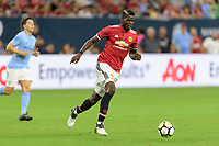 Houston, TX - Thursday July 20, 2017: Paul Pogba during a match between Manchester United and Manchester City in the 2017 International Champions Cup at NRG Stadium.