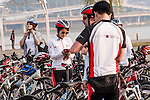 SEOUL - SOUTH KOREA - 13 OCT 2013:  Day two of Société Générale Asia Pacific Staff Bike Ride 2013 at Seoul on October 13th 2013 in Seoul, South Korea. Photo by Xaume Olleros / The Power of Sport Images