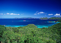 View of Trunk Bay and Beyond<br /> St. John<br /> U.S. Virgin Islands