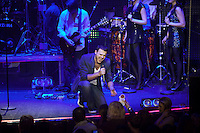 "Moscow, Russia, 07/03/2011..Azerbaijani rock singer Emin Agalarov in concert at the Rai nightclub. Agalarov has released 5 albums, and his first UK album ""Memory"" is due for release. He is also the commercial director of the Crocus International company, founded by his father Aras, and married to Leila Alieva, daugher of Azerbaijan President Ilkham Aliev."