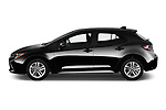 Car Driver side profile view of a 2019 Toyota Corolla SE 5 Door Hatchback Side View