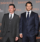 Henry Cavill and Luke Evans  attends the Relativity World Premiere of Immortals held at The Nokia Theater Live in Los Angeles, California on November 07,2011                                                                               © 2011 DVS / Hollywood Press Agency