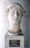 Greek Arts:  Head of Nike--2nd century A.D. copy of 5th century B.C.  Athens.  Photo '82.