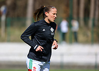 Lenie Onzia (8) of OHL pictured during the warm up before a female soccer game between Oud Heverlee Leuven and Club Brugge YLA on the 18 th and last matchday before the play offs of the 2020 - 2021 season of Belgian Womens Super League , saturday 27 th of March 2021  in Heverlee , Belgium . PHOTO SPORTPIX.BE | SPP | SEVIL OKTEM