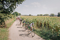 """Brice Feillu (FRA/Fortuneo-Samsic) up front<br /> <br /> Antwerp Port Epic 2018 (formerly """"Schaal Sels"""")<br /> One Day Race:  Antwerp > Antwerp (207 km; of which 32km are cobbles & 30km is gravel/off-road!)"""
