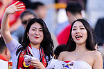 Soccer fans of South Korea show supports to their team prior to the AFC Asian Cup UAE 2019 Group C match between South Korea (KOR) and China (CHN)  at Al Nahyan Stadium on 16 January 2019 in Abu Dhabi, United Arab Emirates. Photo by Marcio Rodrigo Machado / Power Sport Images
