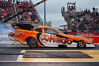 Apr 12, 2019; Baytown, TX, USA; NHRA funny car driver Jonnie Lindberg during qualifying for the Springnationals at Houston Raceway Park. Mandatory Credit: Mark J. Rebilas-USA TODAY Sports