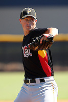 Pittsburgh Pirates minor league pitcher Jason Townsend (53) vs. the New York Yankees in an Instructional League game at the New York Yankees Minor League Complex in Tampa, Florida;  October 8, 2010.  Photo By Mike Janes/Four Seam Images