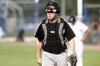 03 September 2011: Catcher Sidney de Jong is seen during game 1 of the 2011 Holland Series won 5-4 in inning number 14 by L&D Amsterdam Pirates over Vaessen Pioniers, in Hoofddorp, Netherlands.