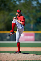 Boston Red Sox pitcher Ty Buttrey (66) during a minor league Spring Training game against the Baltimore Orioles on March 16, 2017 at the Buck O'Neil Baseball Complex in Sarasota, Florida. (Mike Janes/Four Seam Images)