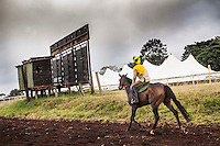 Ngong Racecourse, Nairobi, Kenya. March 15, 2013. Photo: Brendan Bannon