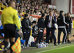 Aberdeen v St Johnstone…22.09.16.. Pittodrie..  Betfred Cup<br />Tommy Wright reacts as David Wotherspoon's goal is ruled offside<br />Picture by Graeme Hart.<br />Copyright Perthshire Picture Agency<br />Tel: 01738 623350  Mobile: 07990 594431