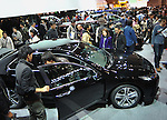 December 4, 2011, Tokyo, Japan - The Honda Accord is put on exhition as more than 110, 000 visitors fill every inch of the Tokyo International Exhibition Center on Sunday, December 4, 2011, the second day of the Tokyo Motor Show. A total of 244,800 visitors in the firt two days turned out to see 398 laetst models from 176 domestic and foreign automakers participating in the weel-long show. (Photo by Natsuki Sakai/AFLO) [3615] -mis-