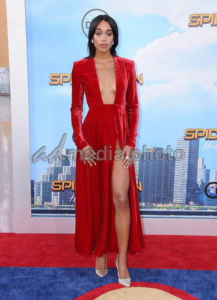 """28 June 2017 - Hollywood, California - Laura Harrier. """"Spider-Man: Homecoming"""" Los Angeles Premiere held at the TCL Chinese Theatre in Hollywood. Photo Credit: Birdie Thompson/AdMedia"""
