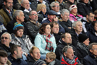 Swansea supporters during the Barclays Premier League match between Swansea City and Leicester City at the Liberty Stadium, Swansea on December 05 2015