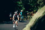 Audrey Cordon-Rago (FRA) Trek-Segafredo out front from the breakaway during La Course 2019 By Le Tour running 121km from Pau to Pau, France. 19th July 2019.<br /> Picture: ASO/Thomas Maheux | Cyclefile<br /> All photos usage must carry mandatory copyright credit (© Cyclefile | ASO/Thomas Maheux)