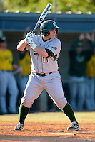 Slippery Rock second baseman Jordan Faretta (11) during a game against the Wayne State Warriors on March 15, 2013 at Chain of Lakes Park in Winter Haven, Florida.  (Mike Janes/Four Seam Images)