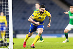 St Johnstone v Hibs…23.01.21   Hampden     BetFred Cup Semi-Final<br />Craig Conway celebrates scoring saints third goal<br />Picture by Graeme Hart.<br />Copyright Perthshire Picture Agency<br />Tel: 01738 623350  Mobile: 07990 594431