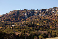 The village of Thorenc, Alpes-Maritimes, France, 11 November 2013. On the left may be seen the block of flats where Sophie and Manon Serrano live. Thorenc is situated at an altitude of 1250 metres and is 34 km by road from Grasse, the nearest major town.