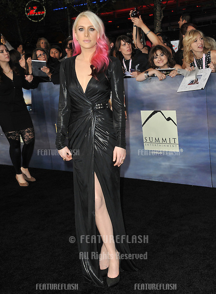 """Casey LaBow at the world premiere of her movie """"The Twilight Saga: Breaking Dawn - Part 2"""" at the Nokia Theatre LA Live..November 12, 2012  Los Angeles, CA.Picture: Paul Smith / Featureflash"""