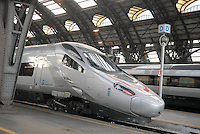 - Trenitalia, Eurostar high speed train in Milan Central Station....- Trenitalia, treno ad alta velocità Eurostar alla Stazione Centrale di Milano