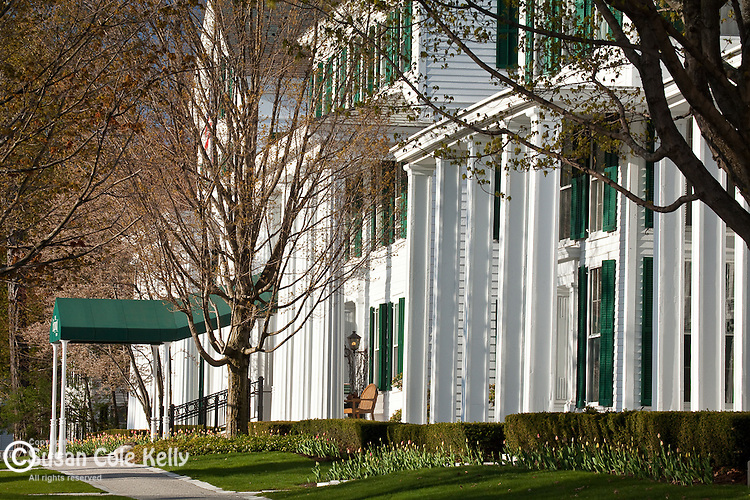Springtime at the Equinox Hotel in Manchester village, VT, USA