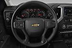 Car pictures of steering wheel view of a 2021 Chevrolet Silverado-1500 WT 2 Door Pick-up Steering Wheel