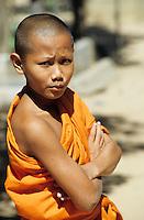 THAILAND, Bangkok, buddhist temple, junger Novize