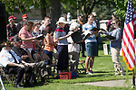 May 29, 2017- Tuscola, IL- The Forty Martyrs choir sings during the Memorial Day ceremony at the Tuscola Cemetery. [Photo: Douglas Cottle]
