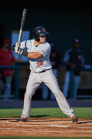 Bowie Baysox catcher Austin Wynns (19) at bat during a game against the Harrisburg Senators on May 16, 2017 at FNB Field in Harrisburg, Pennsylvania.  Bowie defeated Harrisburg 6-4.  (Mike Janes/Four Seam Images)