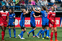 Seattle, WA - Saturday May 13, 2017: Seattle Reign FC during a regular season National Women's Soccer League (NWSL) match between the Seattle Reign FC and the Washington Spirit at Memorial Stadium.